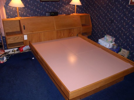 photo of Trish and John's old platform bed